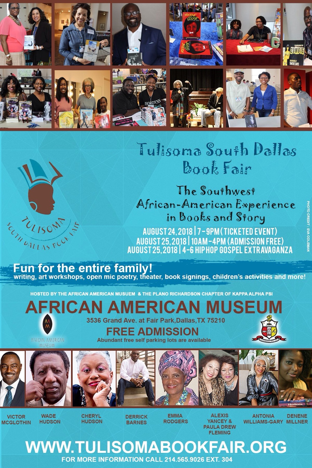 Tulisoma South Dallas Book Fair: 8/24-25