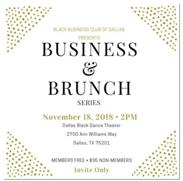 Black Business Club Brunch: November 18, 2018