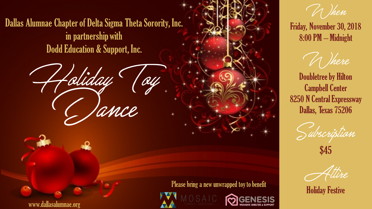 2018 Holiday Toy Dance: November 30, 2018