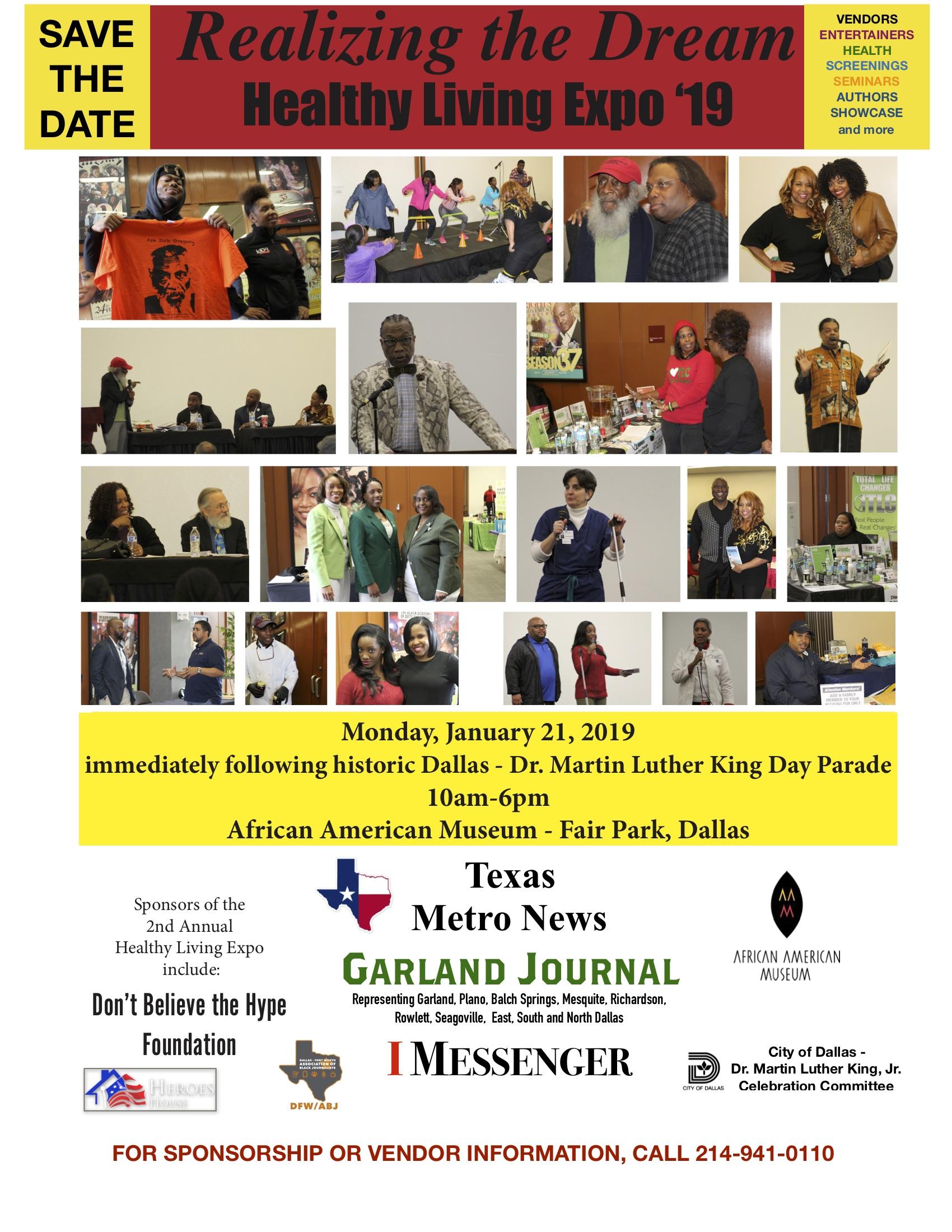 Healthy Living Expo 2019: January 21, 2019