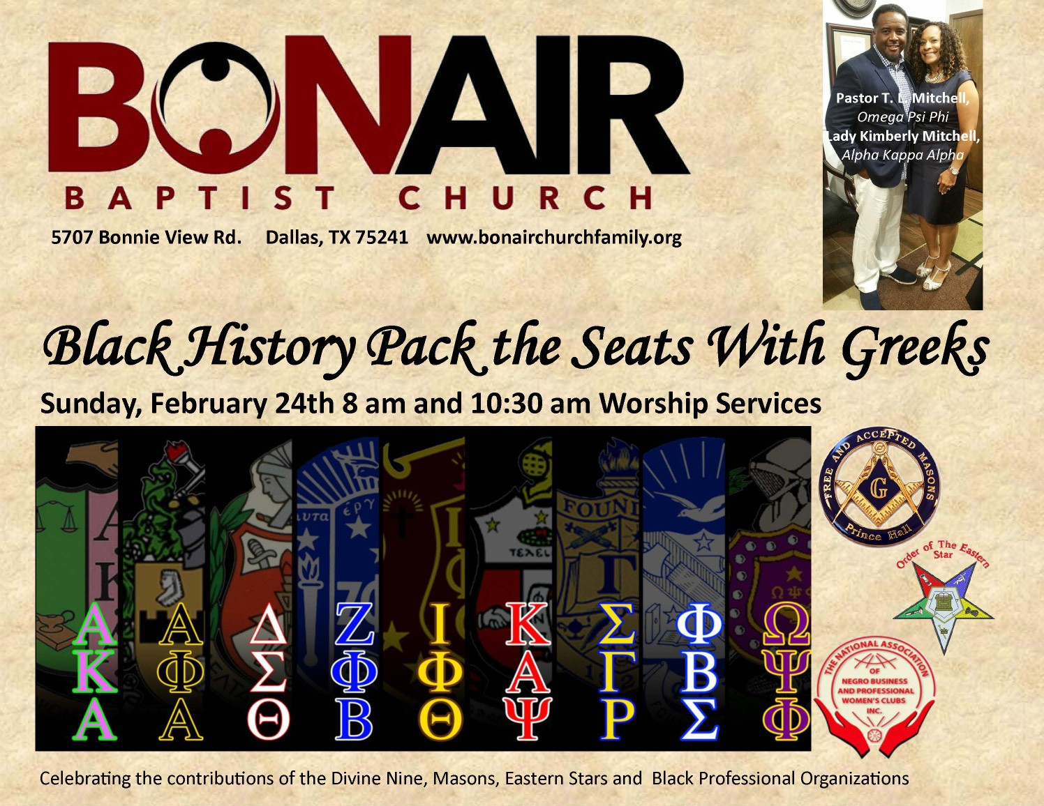 BLACK HISTORY PACK THE SEATS WITH GREEKS: FEBRUARY 24, 2019