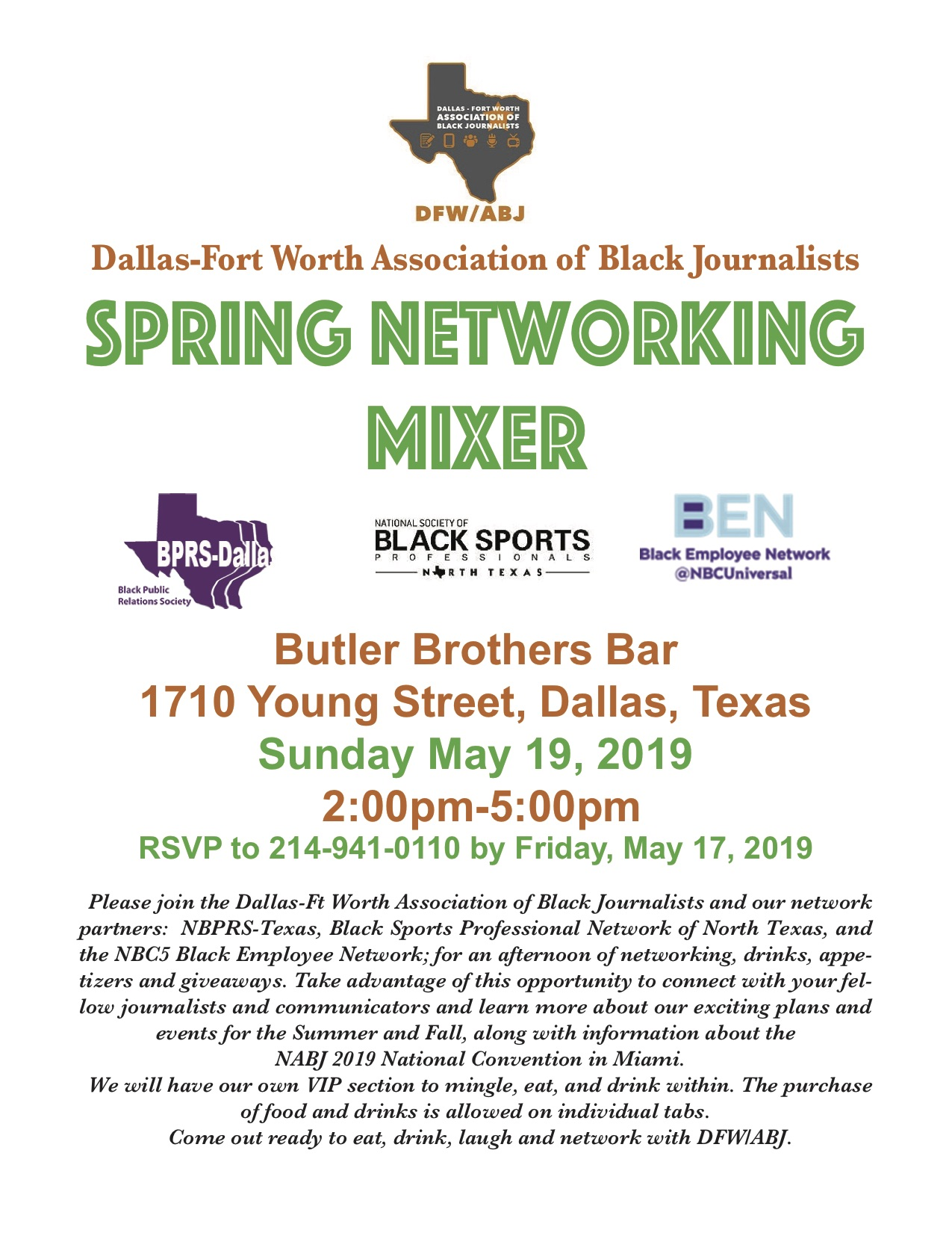 DFW/ABJ Spring Networking Mixer: May 19, 2019