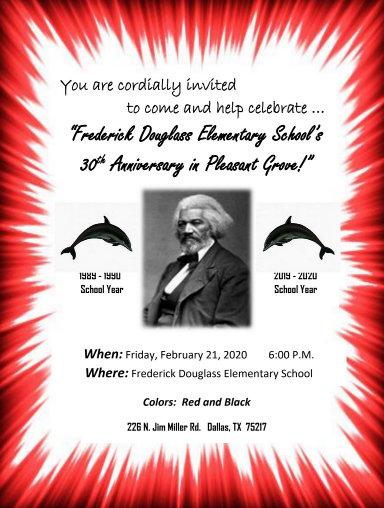 FREDERICK DOUGLASS ELEMENTARY SCHOOL's 30th Anniversary: February 21, 2020