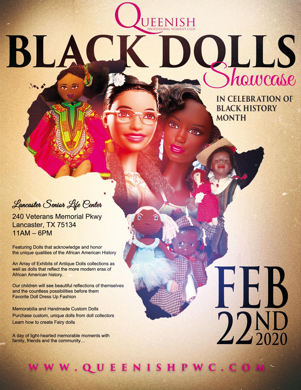 Queenish Black Dolls Dallas: February 22, 2020