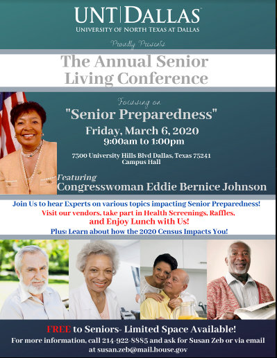Annual Senior Living Conference: March 6, 2020