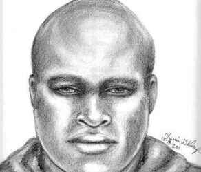 Previously released Sketch of who is now thought to be Jeffery Lemor Wheat, Accused Serial Rapist